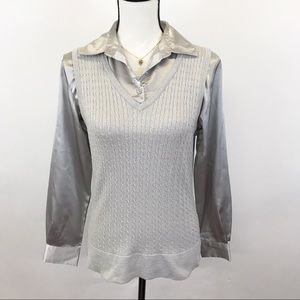 Covington Metallic vest top S